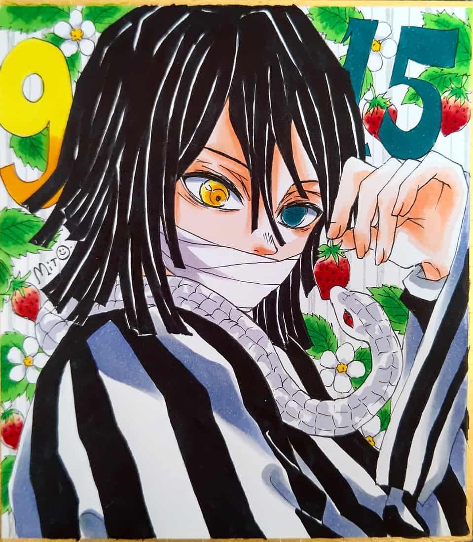 伊黒さん誕生日。 Illust of ミト IguroObanai Copic KimetsunoYaiba