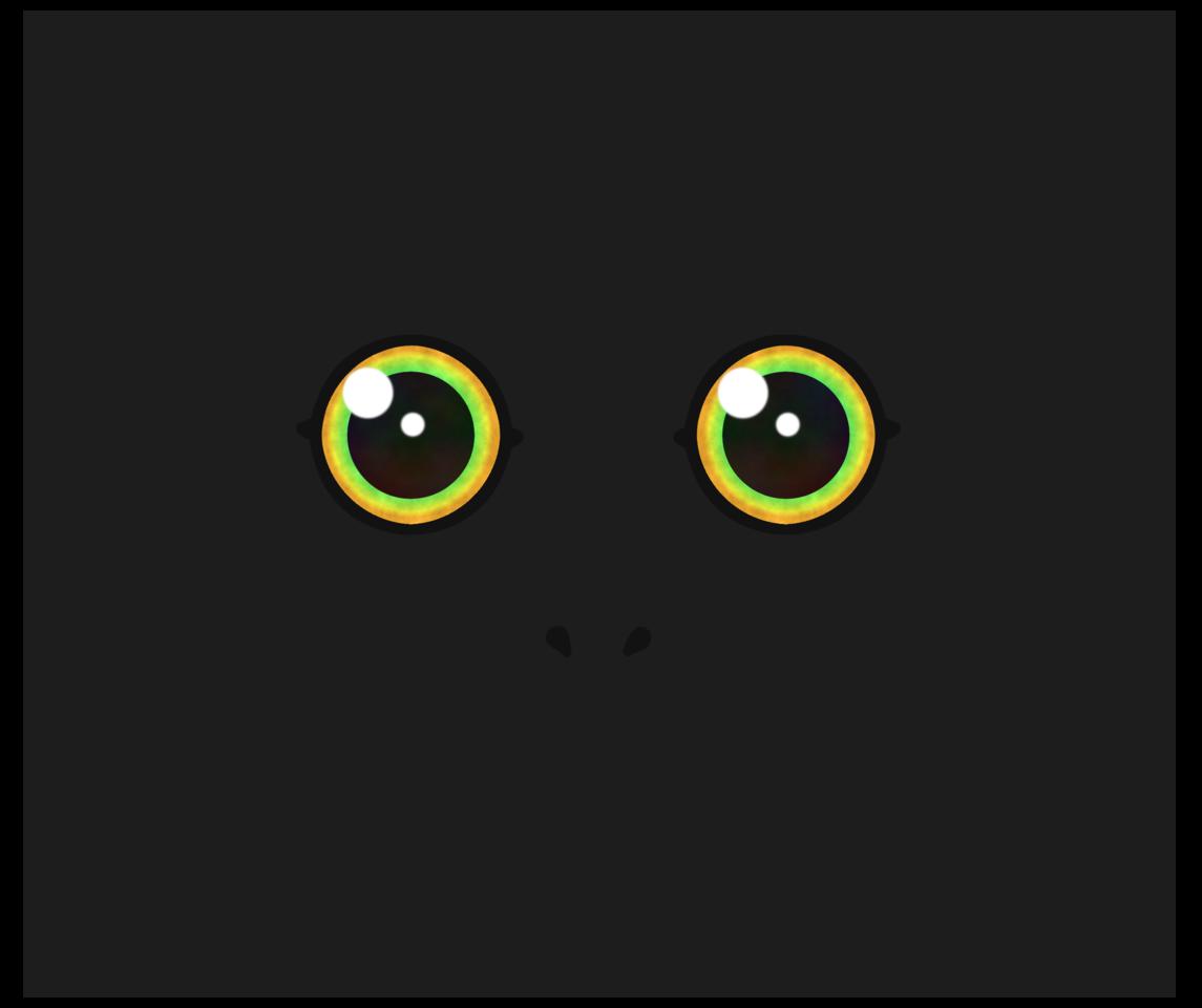 Illust of CopperNeon MaskDesignContest anime face animal green kawaii cute cat eyes monster black