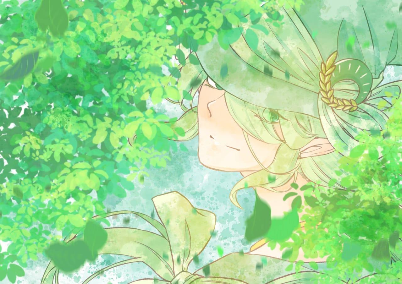 森之精靈 Illust of CrazyCowK green oc forest 精靈 boy commissionsopen 長髮