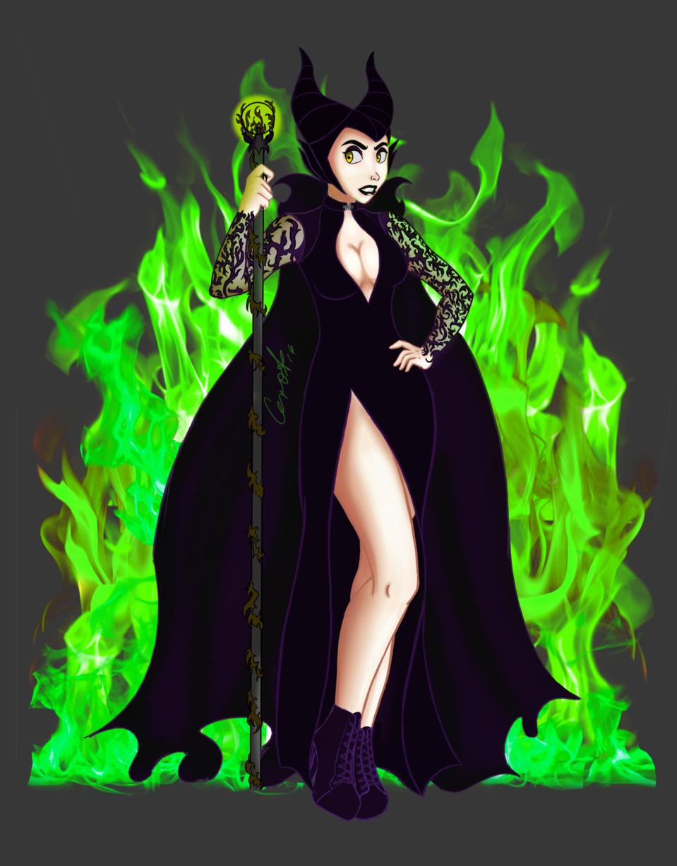 Maleficent Fan Art By Cero V Cerovega Ilustraciones
