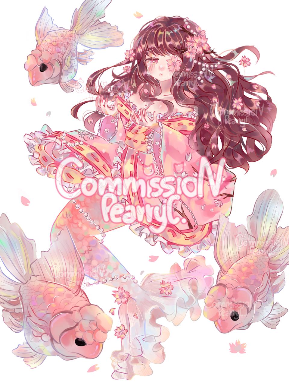 Commission (Mermaid Sakura)  Illust of Pearry_Cat27 medibangpaint
