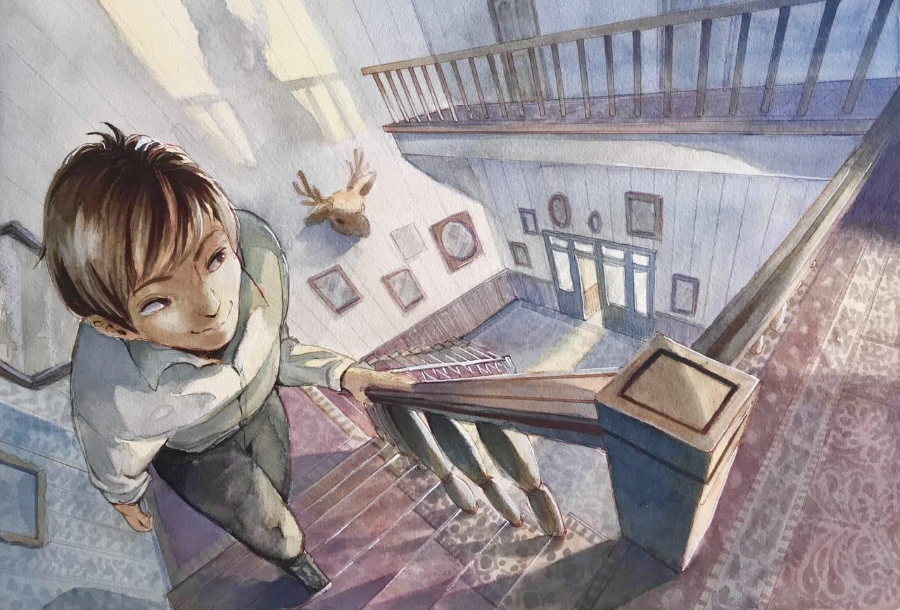 サイコ Illust of 陳田こころ watercolor アナログ illustration Copic movie