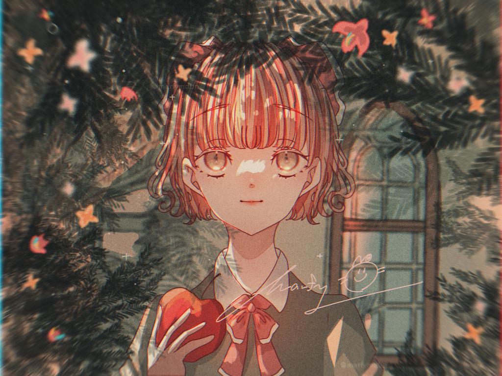 Revival of Applebee Illust of Marfy portrait メルヘン きらきら kawaii girl Applebee ribbon