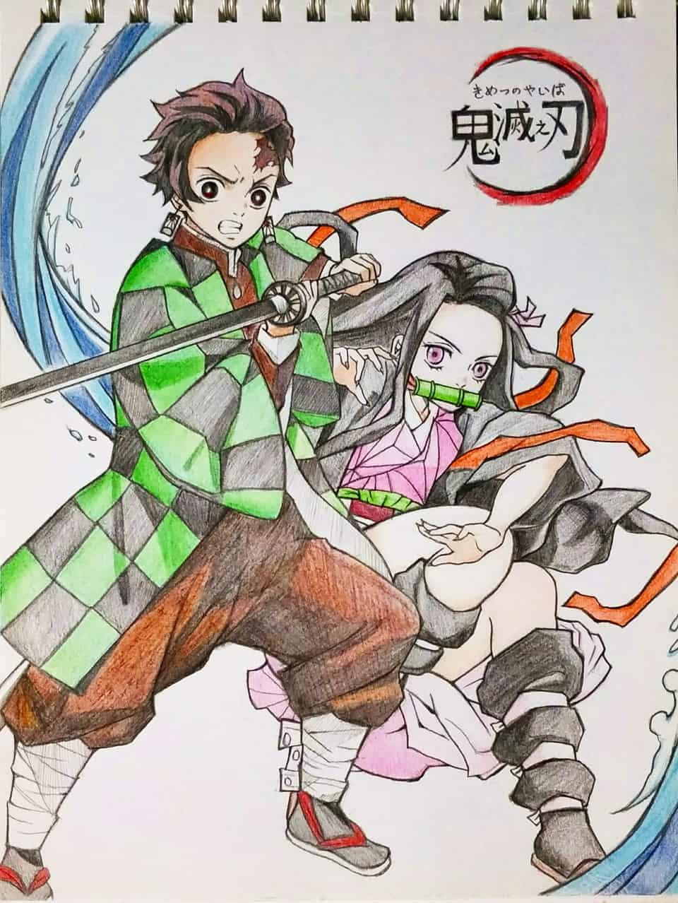 彩虹筆-炭治郎&禰豆子 Illust of 大蔥 DemonSlayerFanartContest KamadoTanjirou KimetsunoYaiba KamadoNezuko