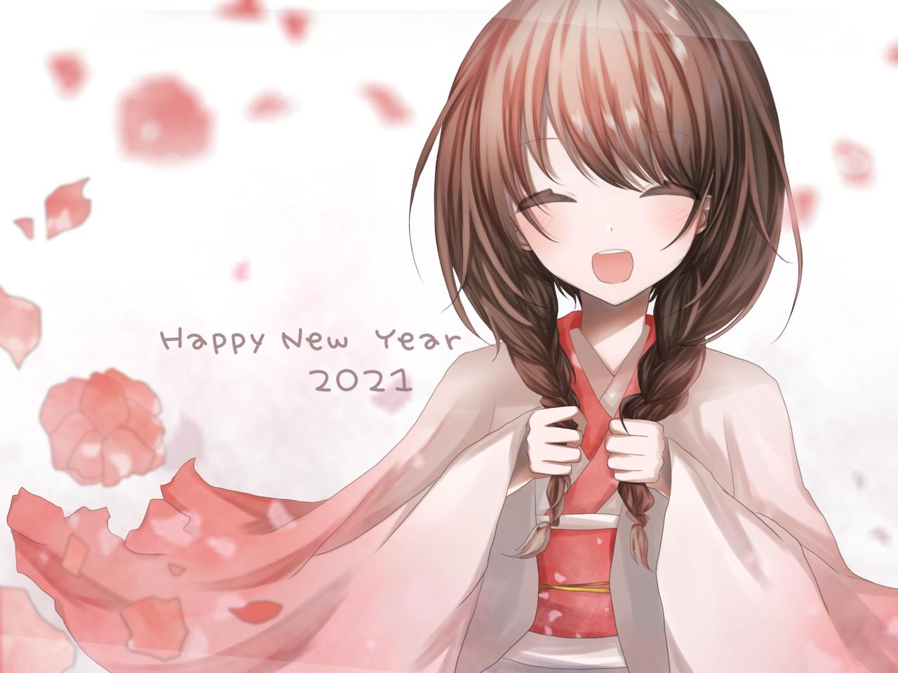 Happy New Year 2021 Illust of Raiju. newyear art girl digital illustration oc