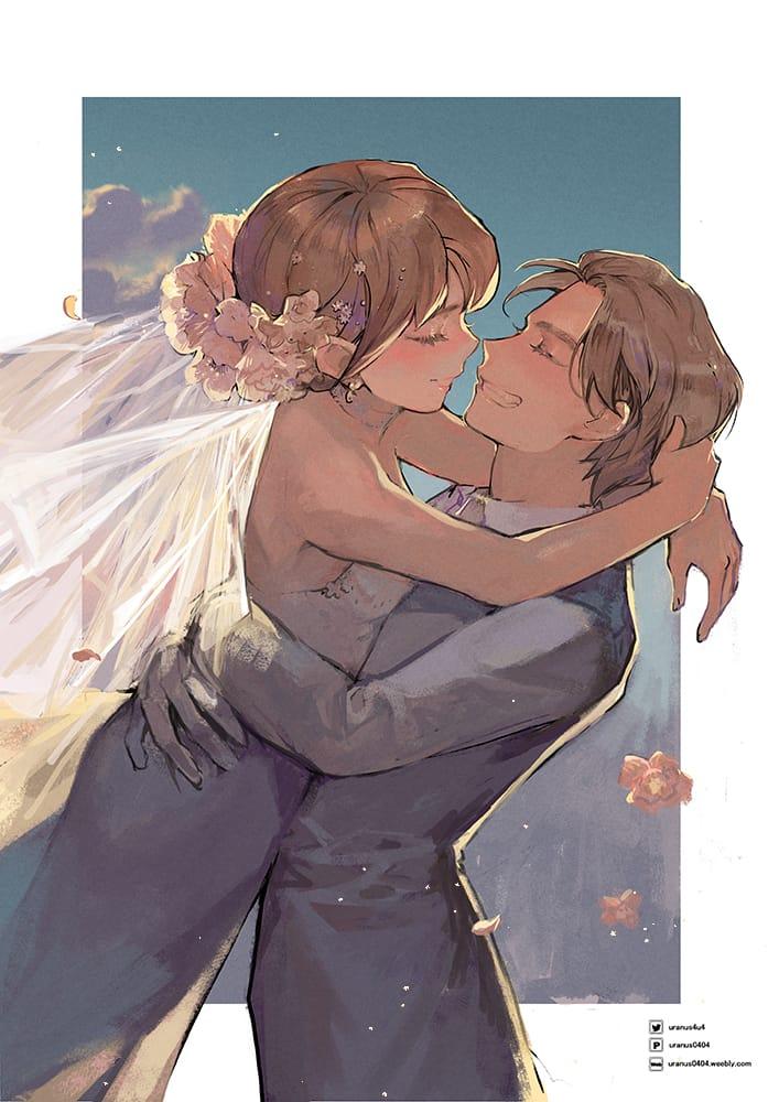心花怒放 Illust of Go To Uranus April2021_Flower wedding