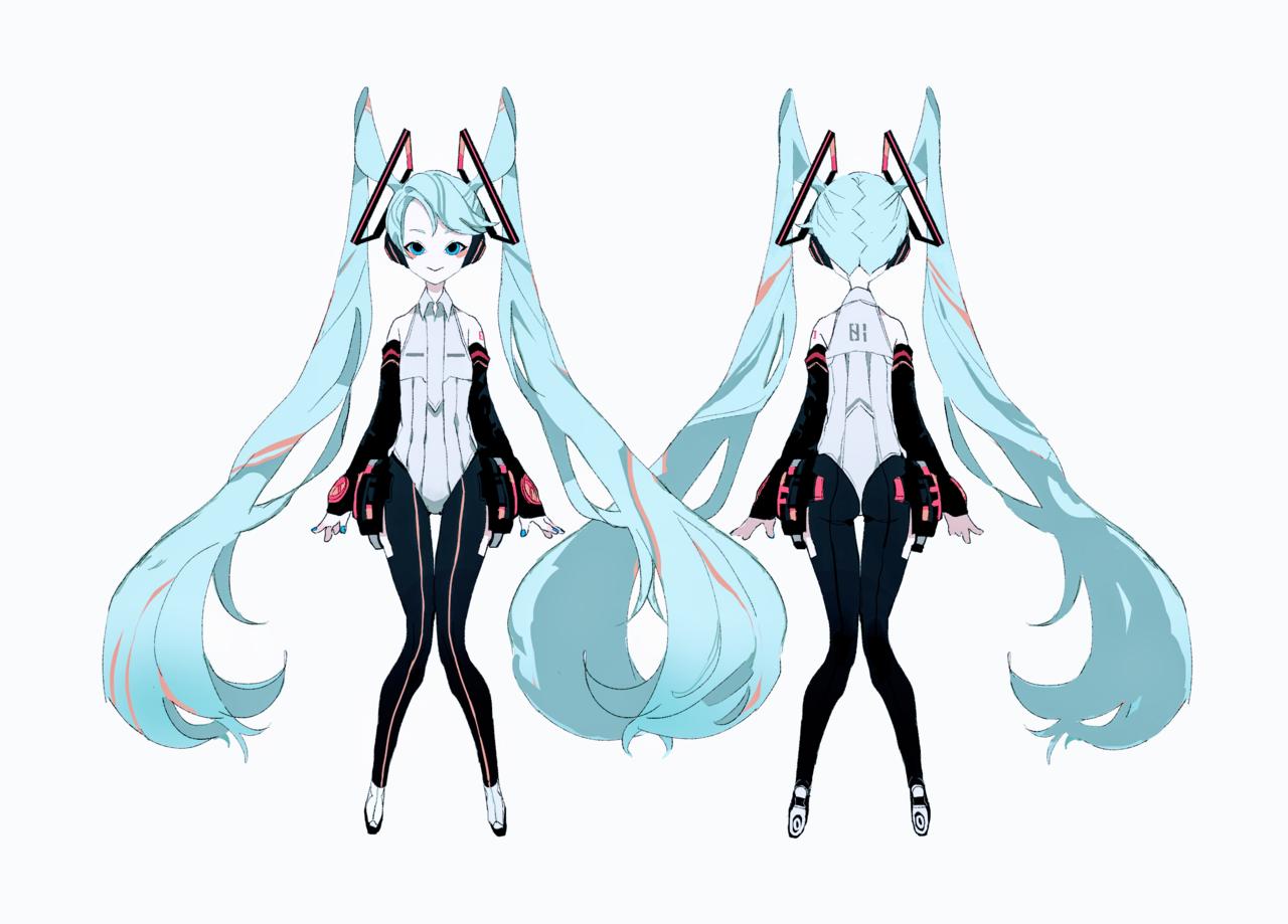 ミクのキャラデザ Illust of ひがしの design hatsunemiku illustration