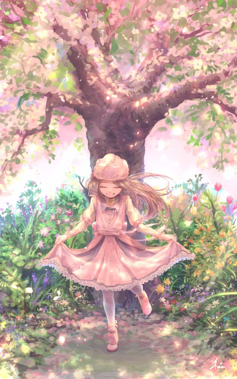 春が舞う Illust of 彩霞ノ雨 季節の子たちが歩みながら 春 girl original sakura oc