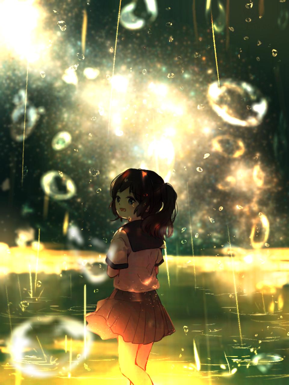 オレンジの涙 Illust of ちびろぅё!!あっとまきゅん ARTstreet_Ranking background 泡 sea girl 水滴