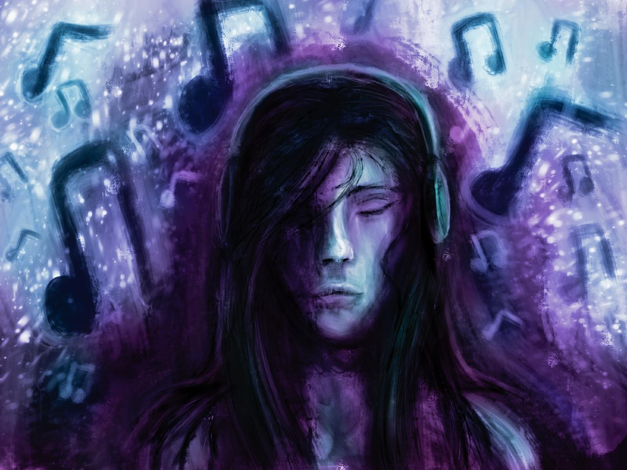 Music Illust of ℤ𝕖𝕟𝕜𝕒𝕥𝕒𝕣 medibangpaint music oc art simple