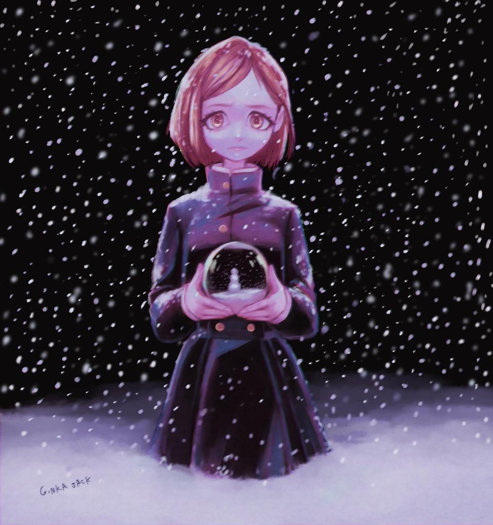 Nobara Illust of Ginka-jack JujutsuKaisenFanartContest snow girl shounen anime JujutsuKaisen