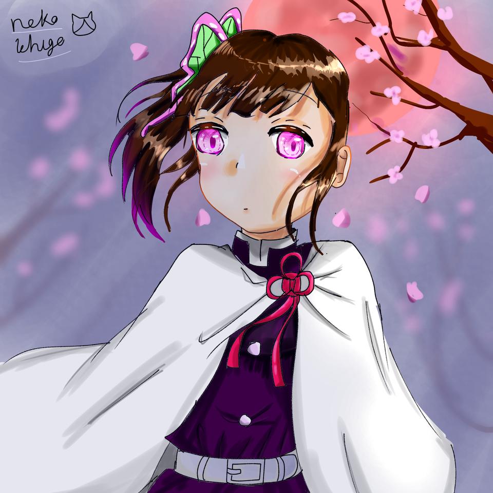 カナヲちゃん久しぶりに描いた Illust of ねこいちご 小6 medibangpaint girl KimetsunoYaiba kawaii sakura TsuyuriKanao 下手くそ