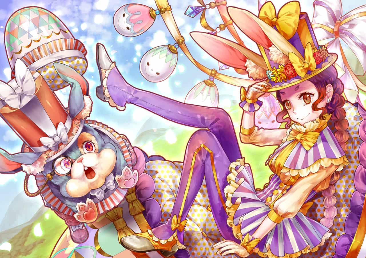 イースター!!! Illust of タロコ March.2020Contest:Easter glasses girl cute rabbit バニーちゃん イースター