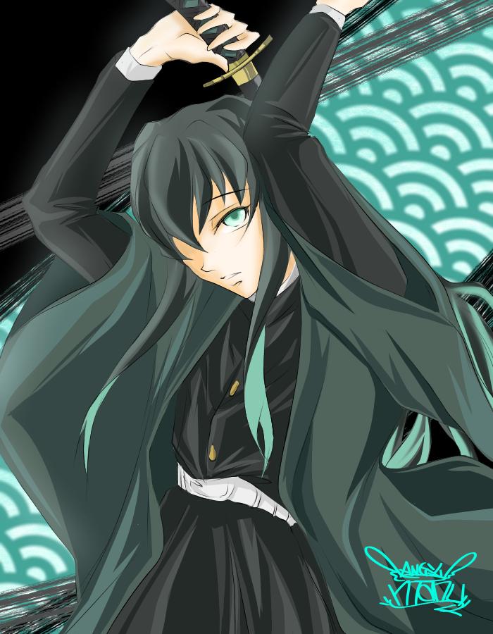 鬼滅の刃♪ 無一郎kun♪(muichirou♪) Illust of Manu かっこいい カラー 柱 KimetsunoYaiba boy cute TokitouMuichirou green