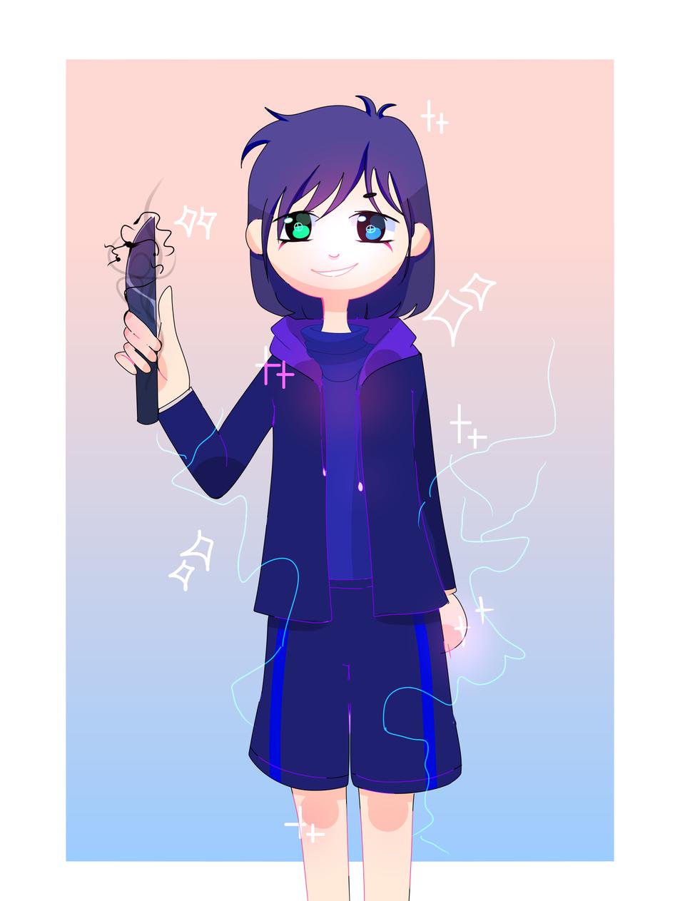 A gift for Danizinha! I hope ya like it ^^ Illust of Infinite stylez medibangpaint blue infinitestylez knife cute Danizinhaundertale electric