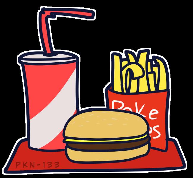 meal Illust of ✨ PKN-133 ✨ food medibangpaint Soda burger digital PKN-133 Fries