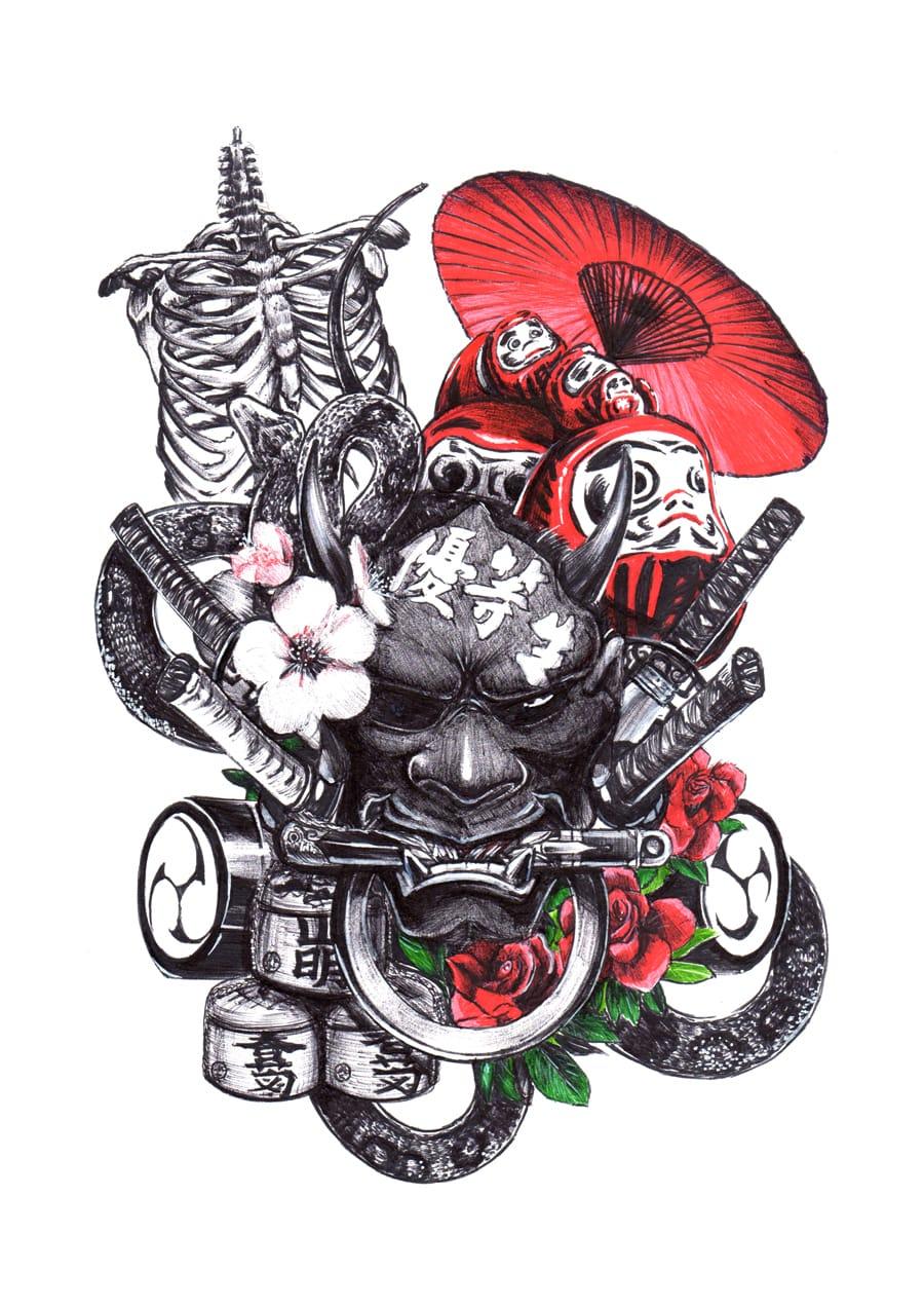 【Drawing】Untitled art /timelapse Illust of chuanchieh illustration ペン画 original sketch drawing art