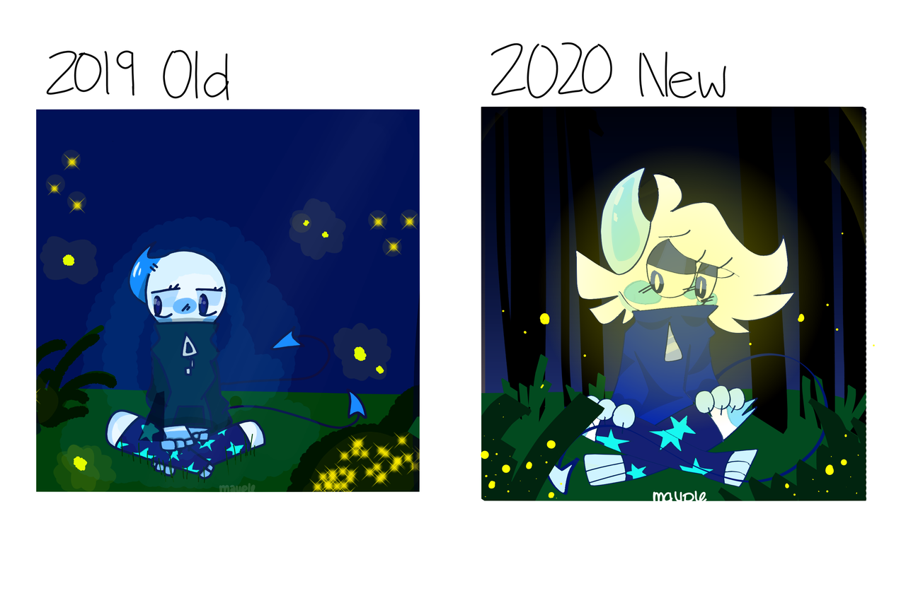 Old vs new :0 Illust of kiielmao medibangpaint