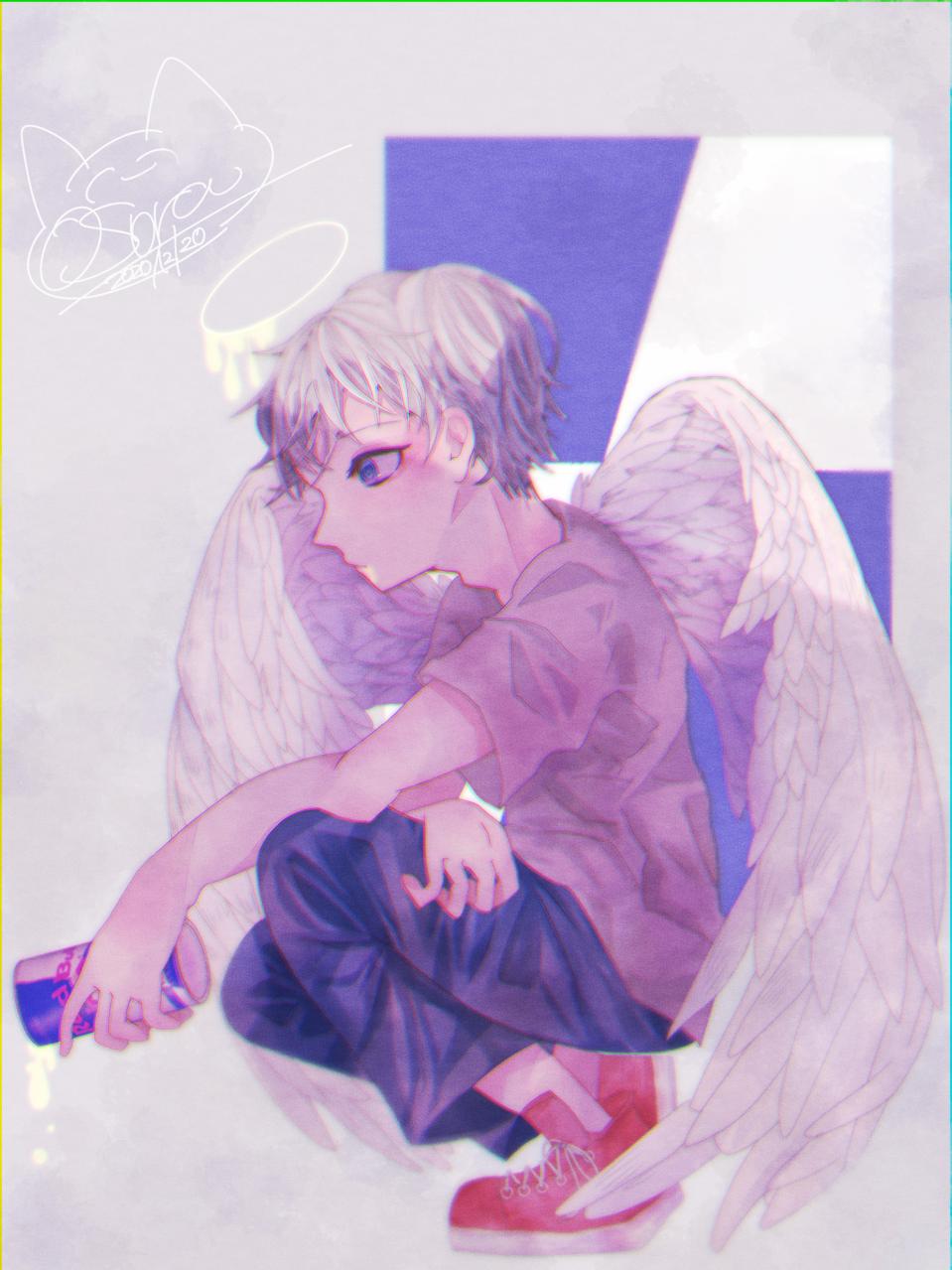 こんな翼じゃ… Illust of OSora レッドブル angel medibangpaint