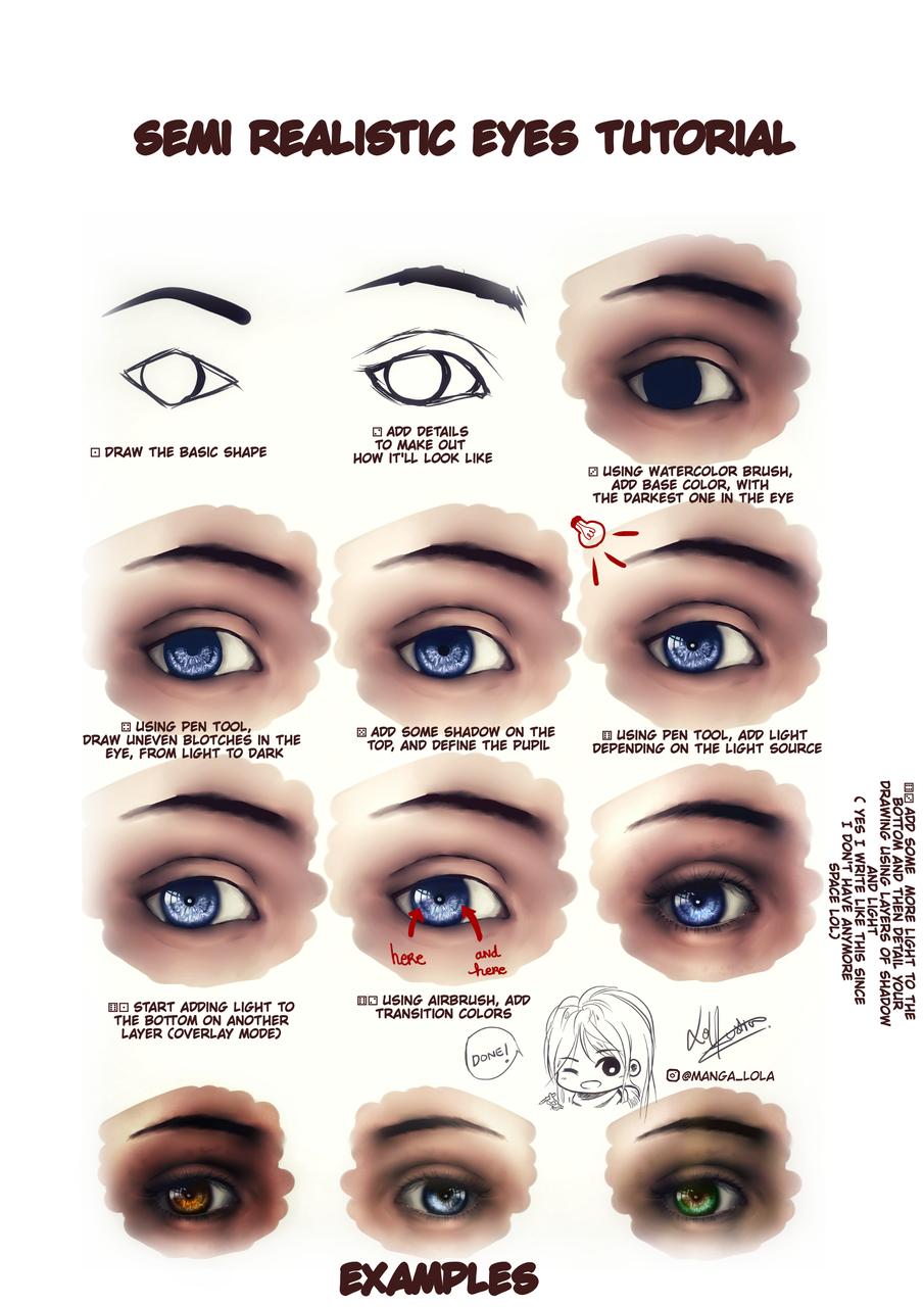 tutorial semi realistic eyes
