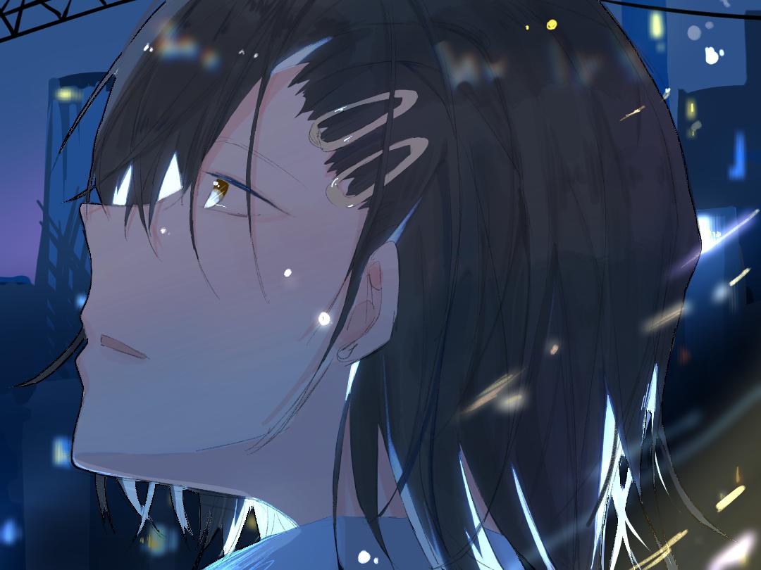 夜晚的光 Illust of 栗米先生 medibangpaint