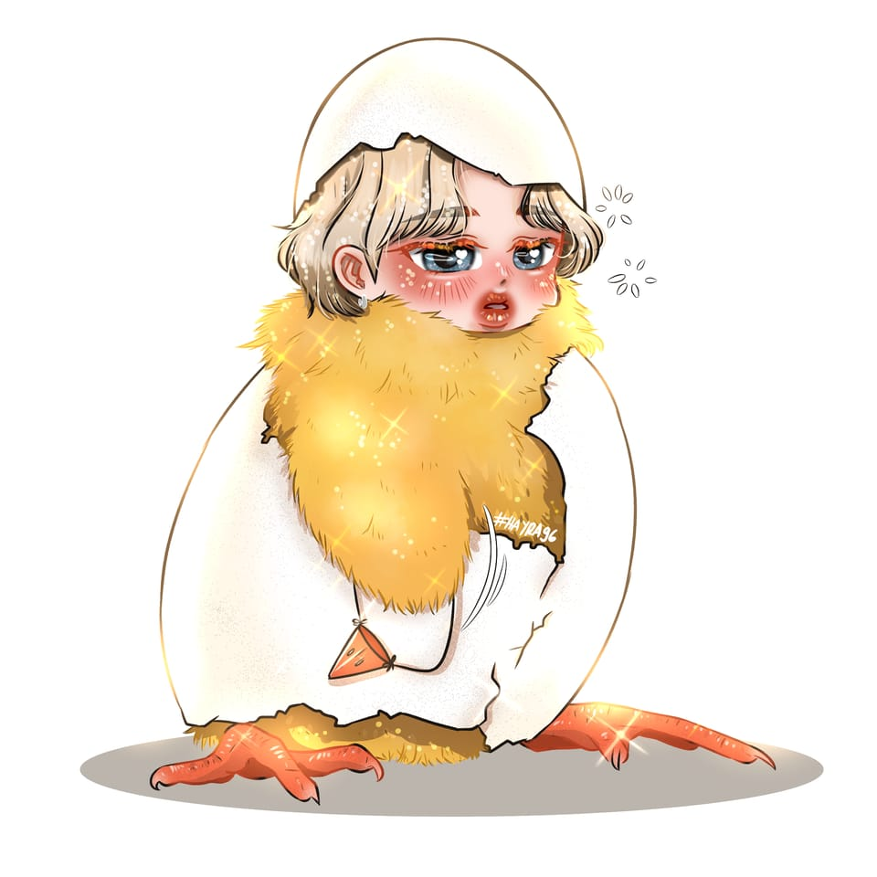 Little cutie chicken! Illust of Hayra96 June2021_Anthropomorphism medibangpaint fanart hayra96 BTS digital cute smangartgallery chicken