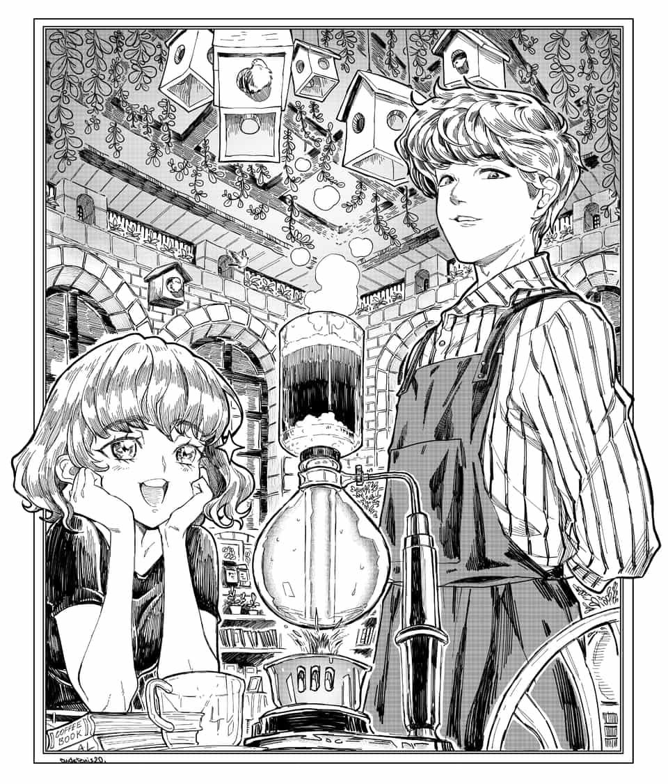 喫茶店 Illust of EUDETENIS ARTstreet_Ranking Original_Illustration_Contest 喫茶店 コーヒー EUDETENIS black
