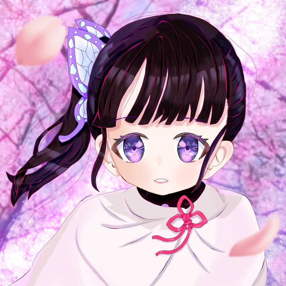 「今までありがとう、みんな。」 Illust of 冬路くじら DemonSlayerFanartContest medibangpaint girl kawaii butterfly flower portrait pink