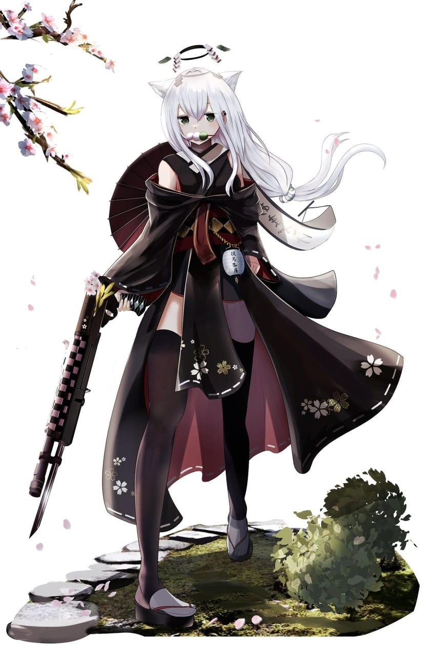 🍡 Illust of シルベ ケモミミ angel white_hair 和風ファンタジー girl 武器娘 original
