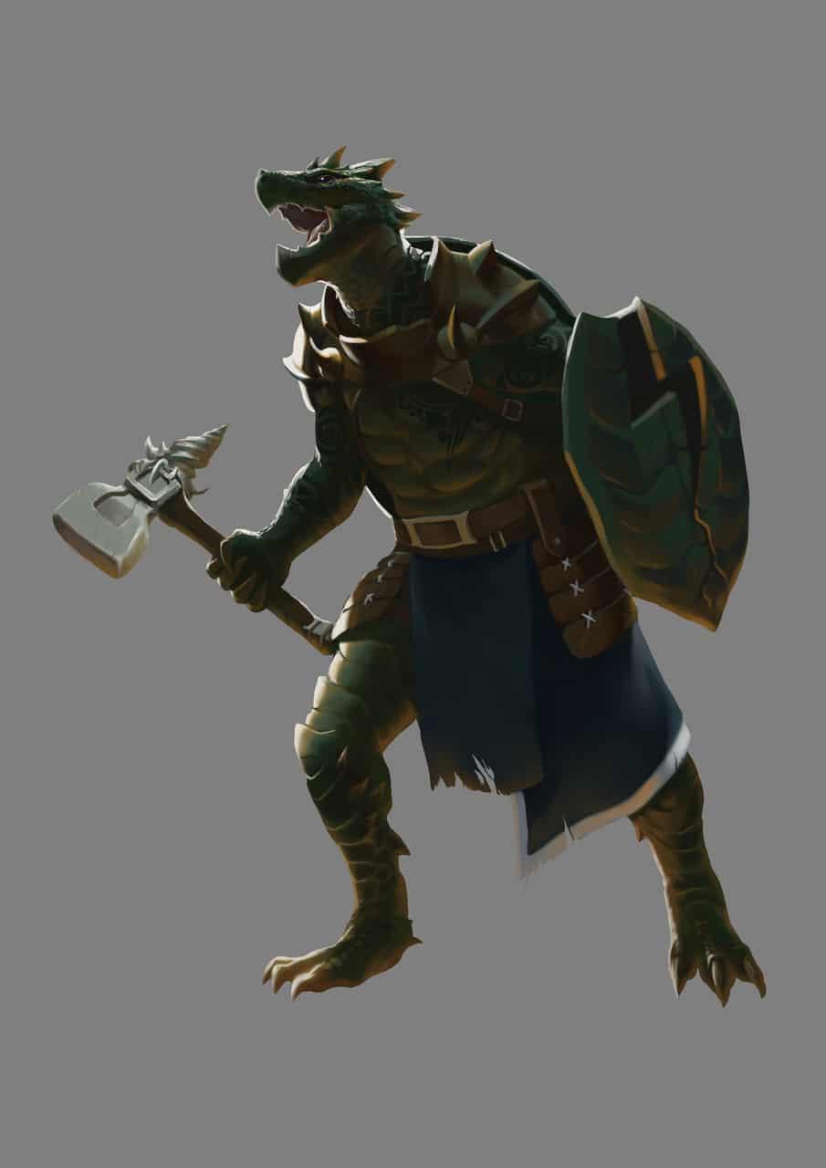 Dragon turtle Illust of sandkuwng Warriors illustration Turtle character