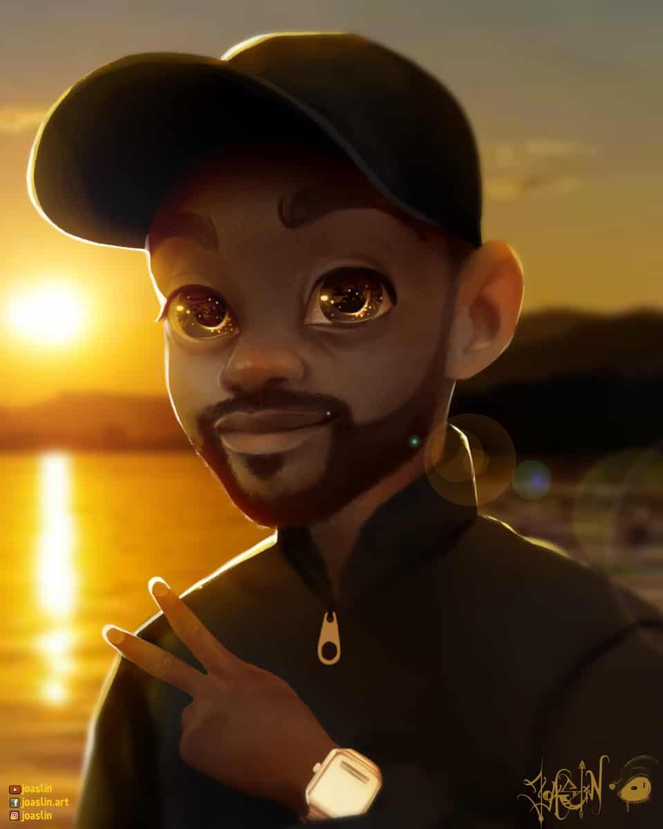✌🏾 Chill evening Illust of JoAsLiN ARTstreet_Ranking original joaslin painting eyes oc cute art sunset background boy