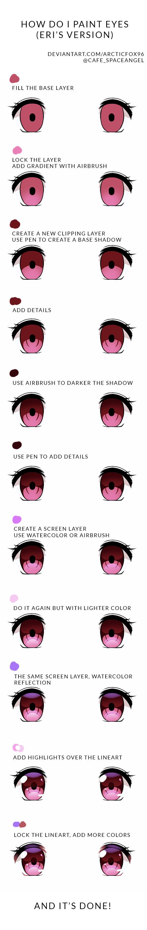 eye tutorial Illust of Arctic Fox eyes anime 目イキング tutorial eyetutorial