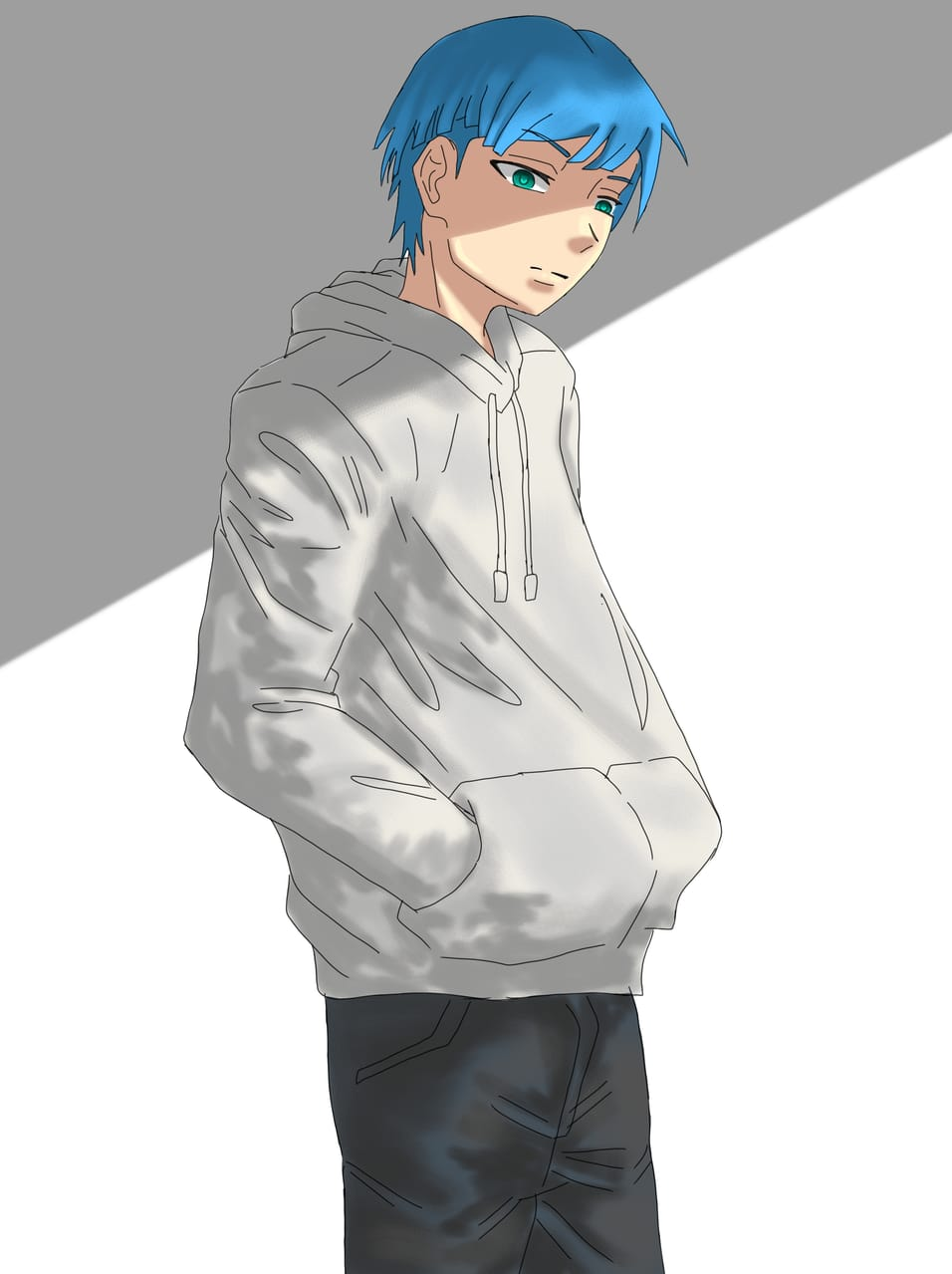 Back to schedules. Illust of Yuri Black Zero medibangpaint painting color male illustration handsome boy