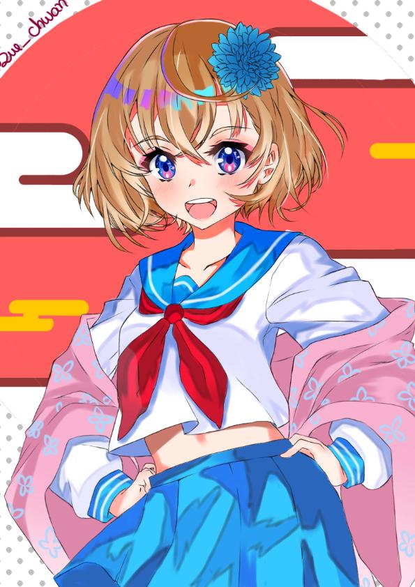 💮School Girl💮 Illust of Sue-chwan ARTstreet_Ranking medibangpaint anime colegial kawaii cute kawaiigirl