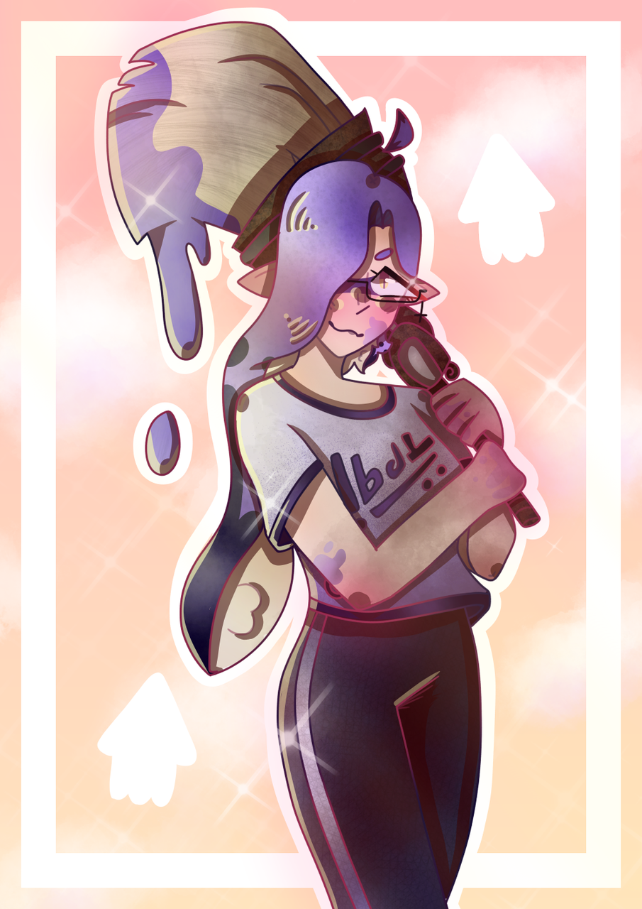 I drew her again :0 Illust of _bingo.__.bongo_ medibangpaint Splatoon Splatoon2 inkling