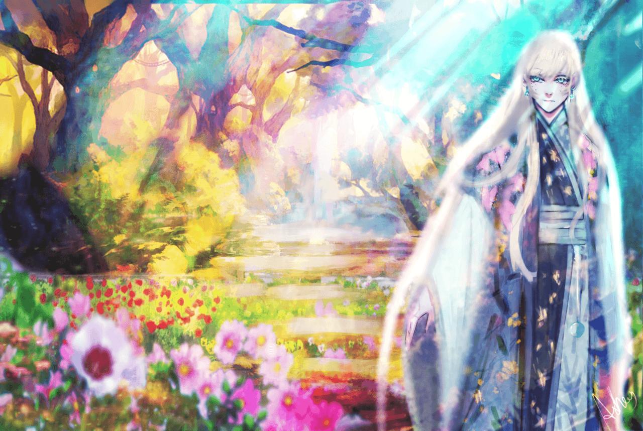 Paseo Illust of Aslhey-kun ART_street_Illustration_Book_Contest King pastel sassy colors, background uff Up