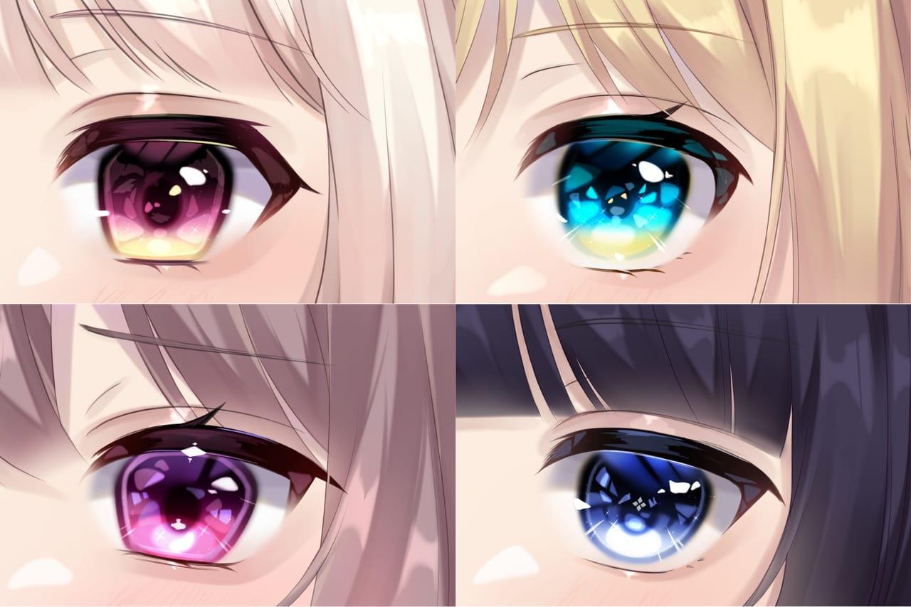 彼女たち Illust of しき original 講座 eyes oc メイキング girl kawaii おんなのこ