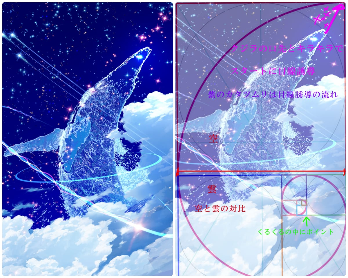 黄金比編!!3つの密!!! Illust of まころん☆ illustration イラスト好きな人と繋がりたい CLIPSTUDIOPAINT 美少女 kawaii art sky star background oc