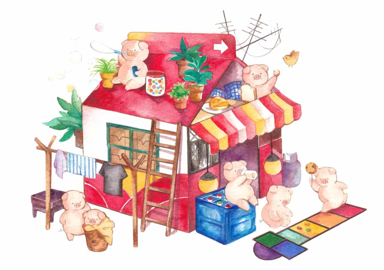 香港食物-屋仔奶 Illust of ぶた brag.your.country
