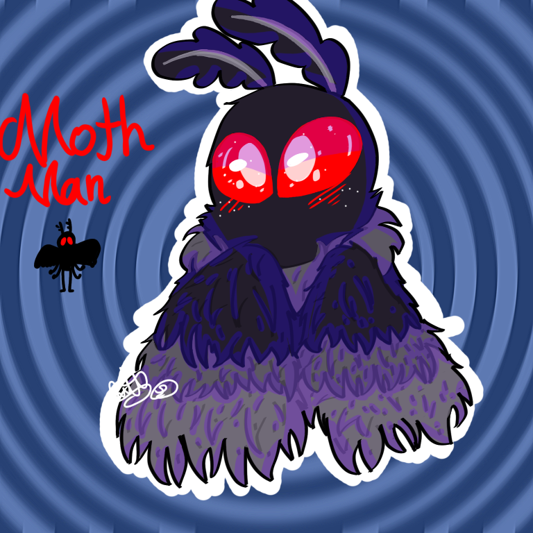 Mothman Illust of Grape Juice