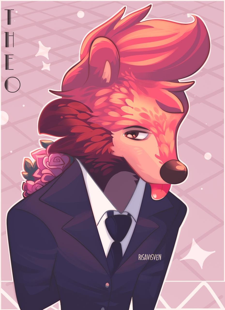 🐾Mlem mlem 🐾 Illust of risavisven oc charister🌹 cute tanuki anthro furry digital magnorose🌹 furryoc digitaldrawing