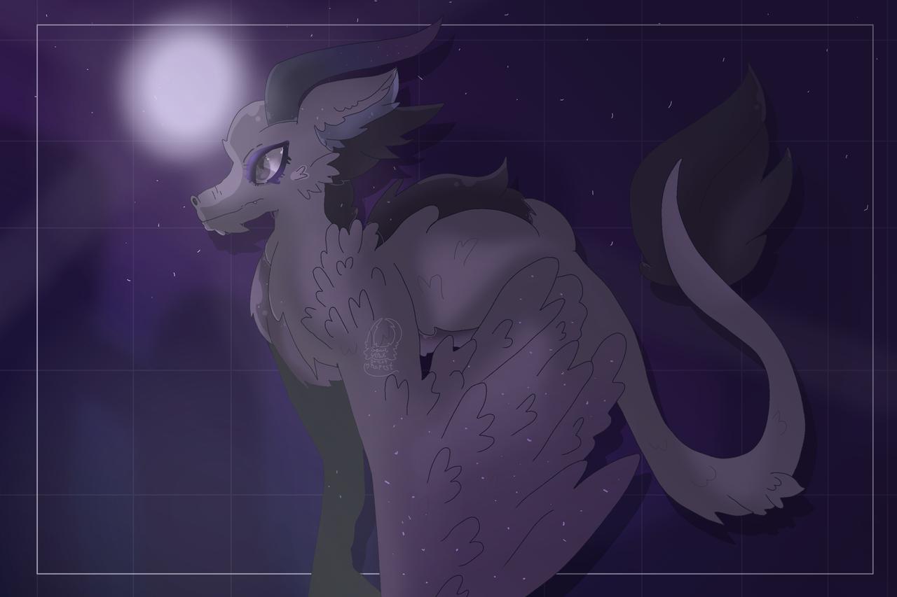 Dragon adopt from Midnight_draws  Illust of Squidkid64 medibangpaint dragon dragonoc adopt night cute Squidkid64 Midnight oc