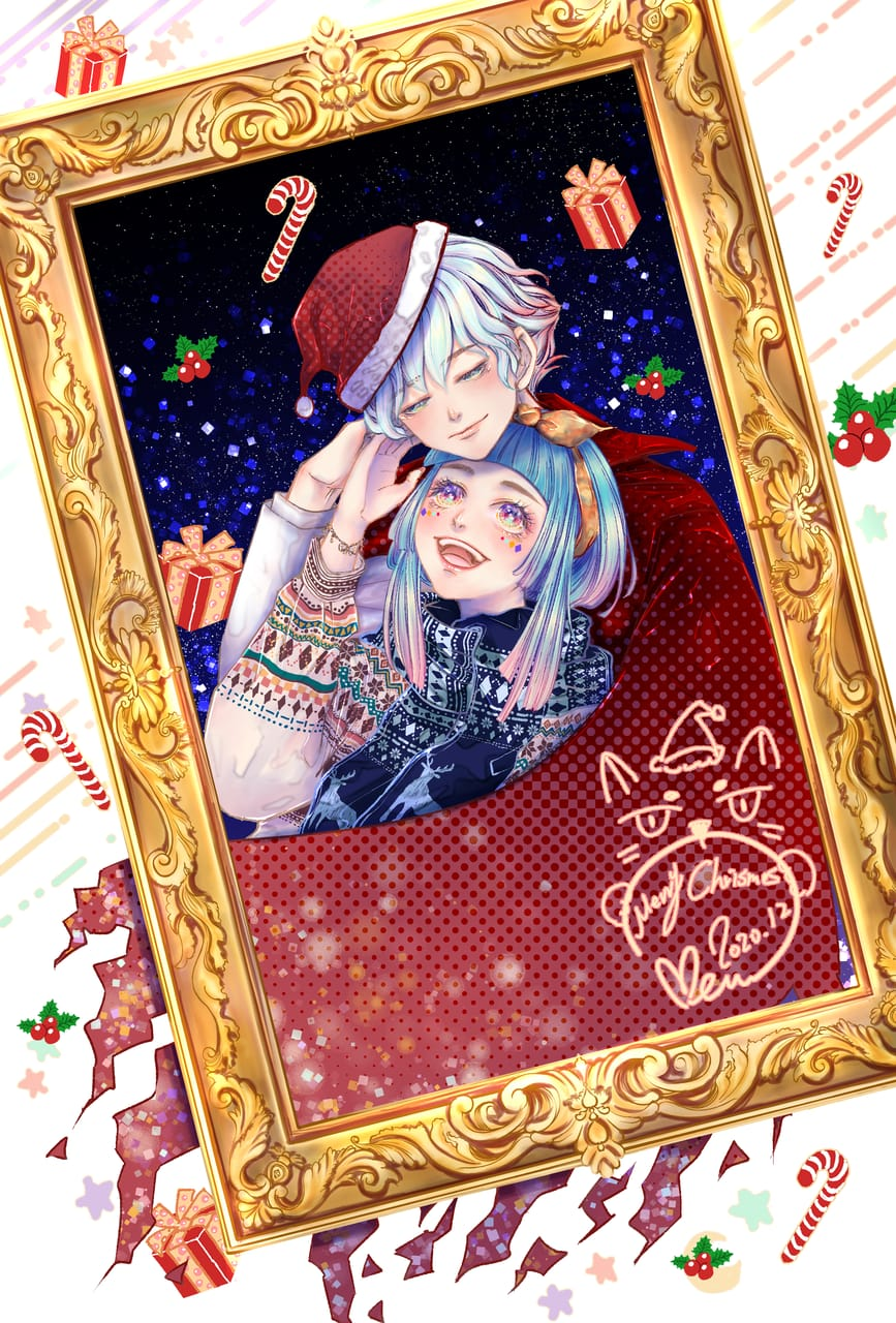 北歐雪之守護者 Illust of Miru米如 December2020_Contest:Santa starry_sky 額緣 girl 禮物 Christmas original illustration キラキラ boy