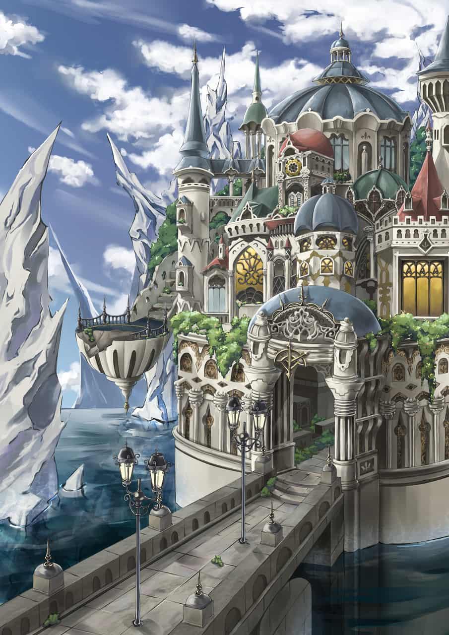 - 背景- Illust of Deco fantasy illustration 建物 scenery original 城 background