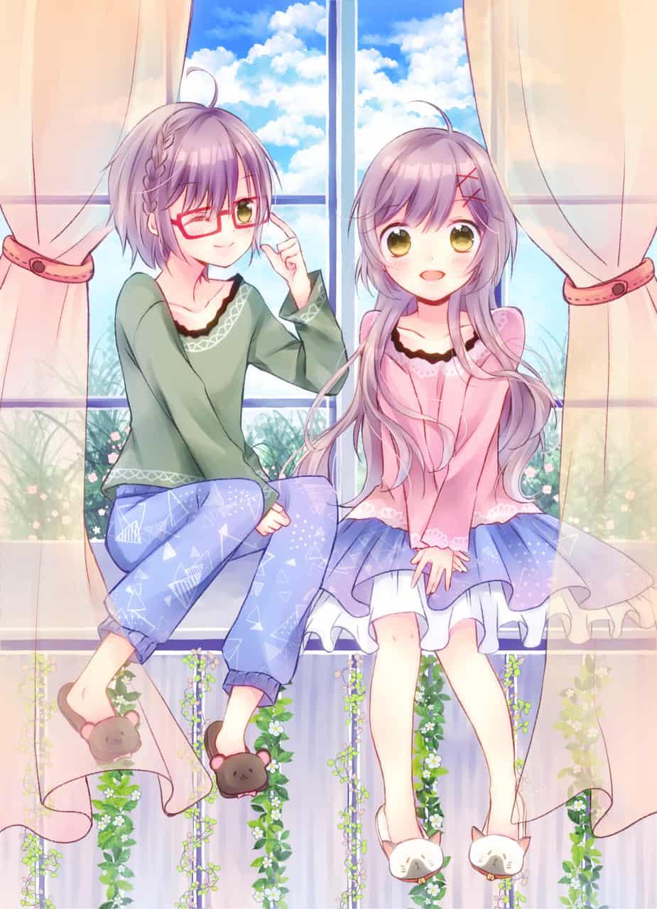 双子ちゃん② Illust of シユン。 original 双子 kawaii boy girl oc