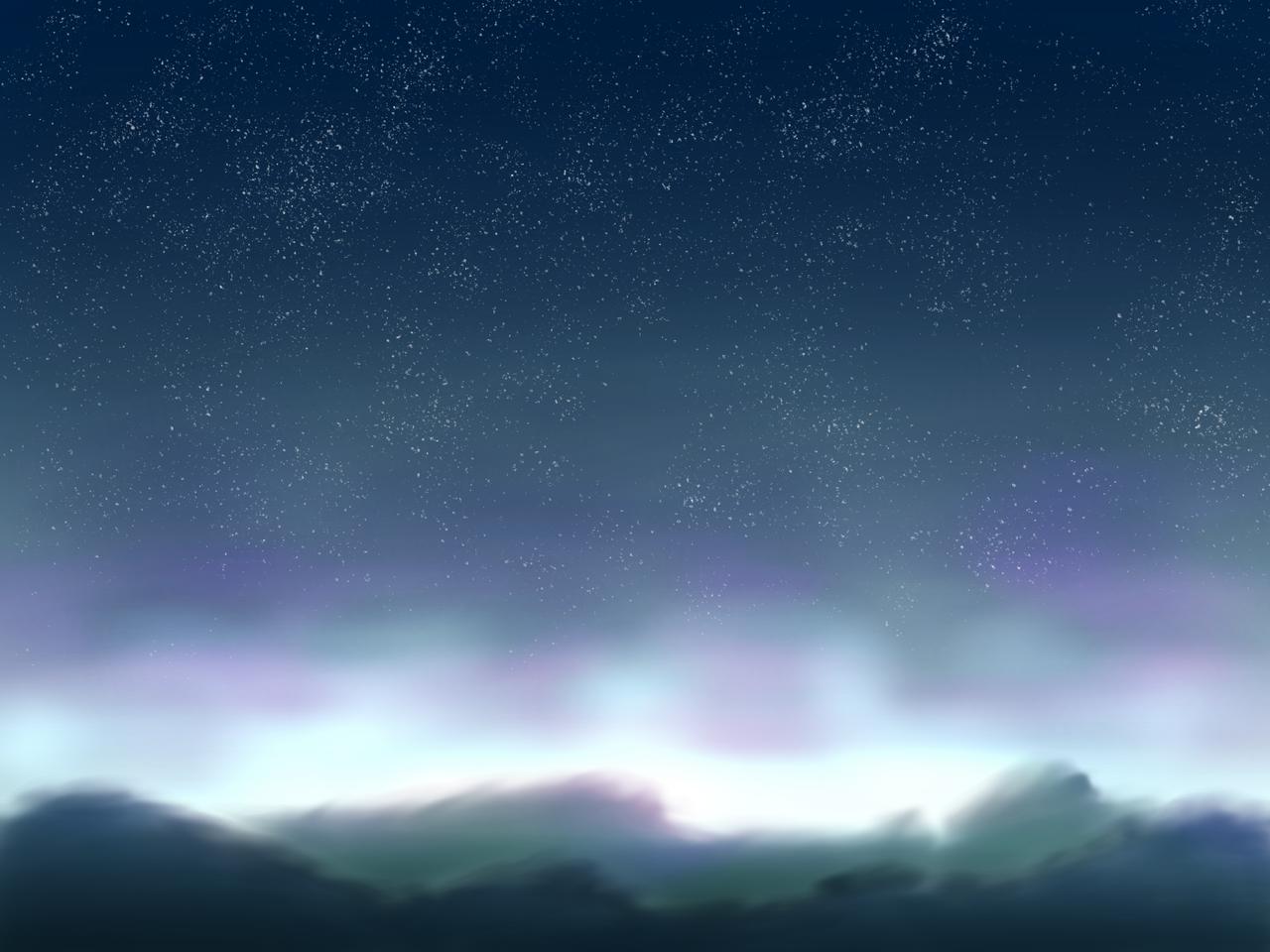 同じ構図ばっかり描き過ぎて多分同じやつがある Illust of 如月来蕾≮TRPG≯ medibangpaint space 山 star original sunset