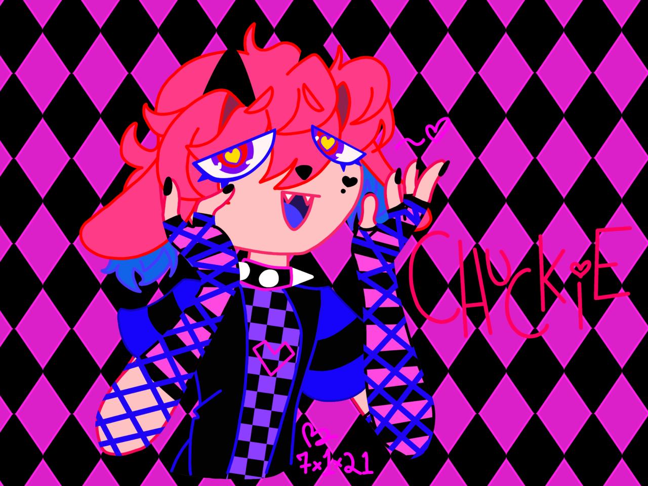 Chuckie ~💗 Illust of ẞ r e d Neon pink Alt oc Sm!ley