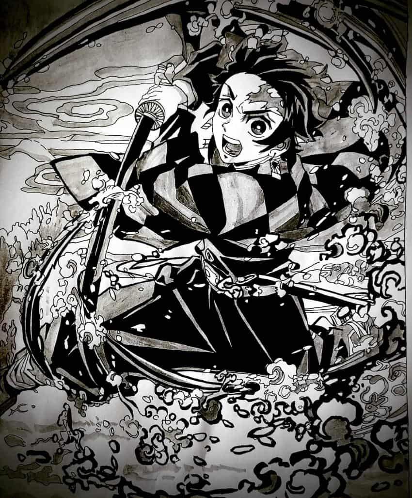 鬼滅の刃. Illust of soulmate0130 DemonSlayerFanartContest トレース