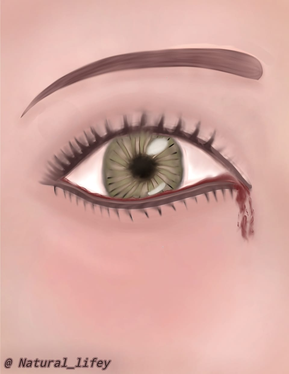 In your opinion, does the eye look like relastic? Illust of Natural_lifey May2021_Monochrome June2021_Anthropomorphism MasterpieceFanart ponytail illustration fanart cute art woman Drawings drawing manga anime sketch