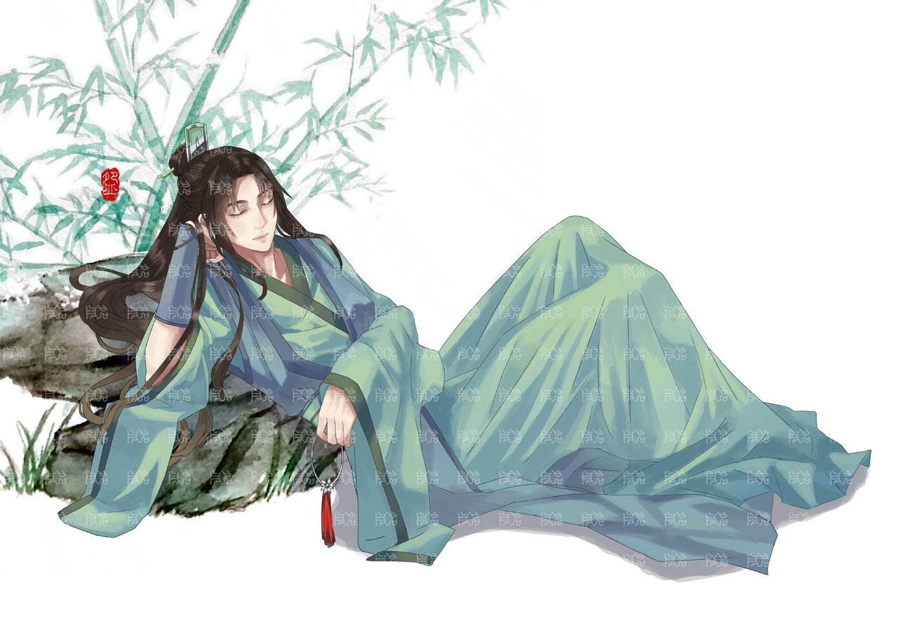 竹间词 Illust of 那我男神就张培基吧 medibangpaint illustration 青年 青年男子 古风 美男子 私稿 竹 boy